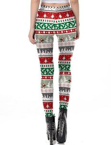 Christmas Festivals Printed Long Pants