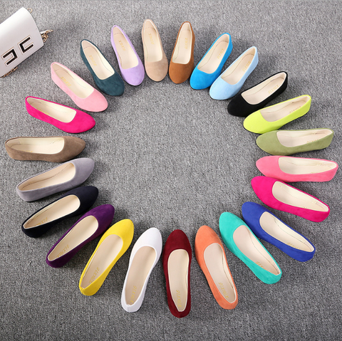 Spring Autumn Fashion Pointed Bottom Shallow Mouth flat shoes