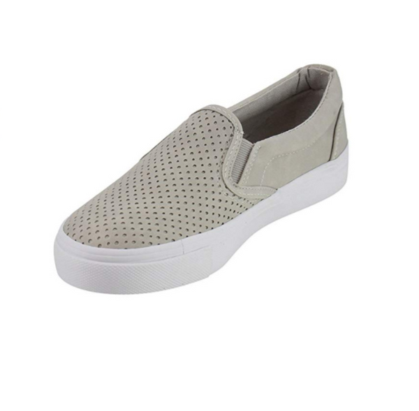 Hollow Out Pure Color Ventilation Flat Shoes