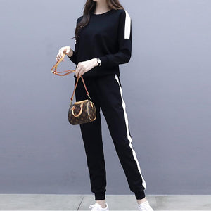Casual Loose Slim Sportswear Hoodies Suit