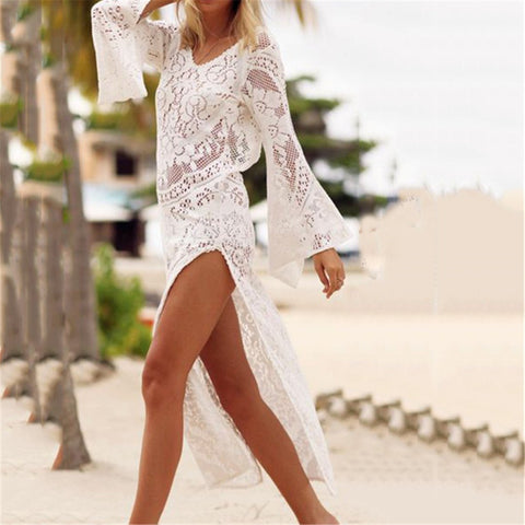 Sexy Lace Hollow Beach Dress