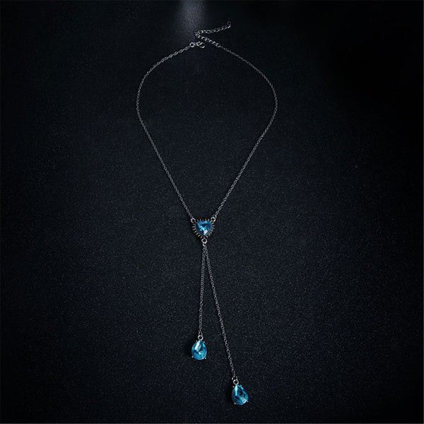 Bohemia Style Blue Faux Jewelry Necklace