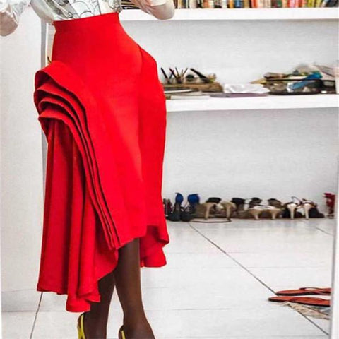 Fashion Overlay Decorative Half Length Skirt