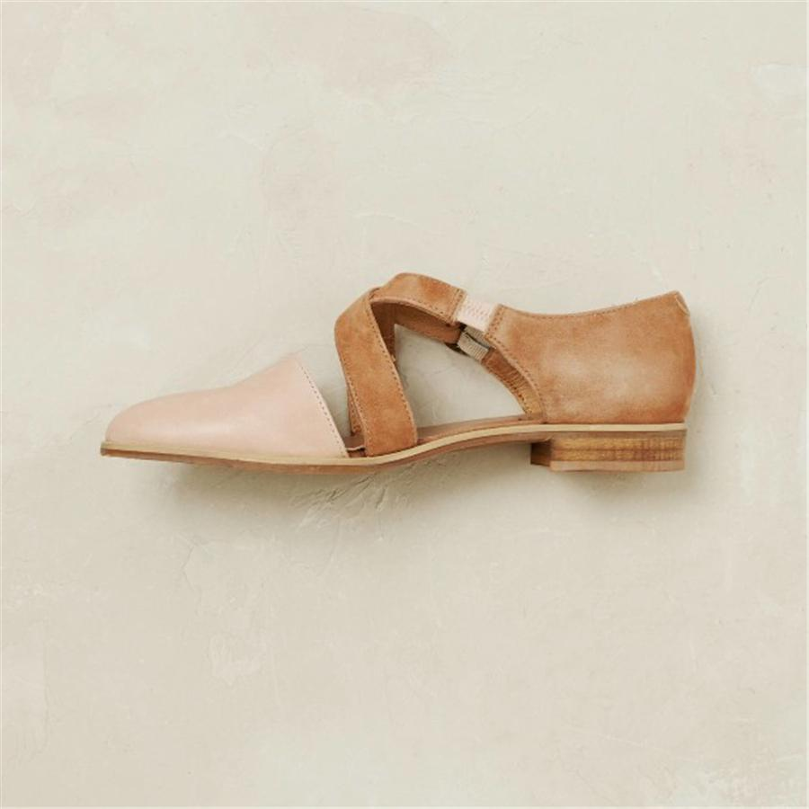 Fashion Retro   Pointed Wild Flat Shoes