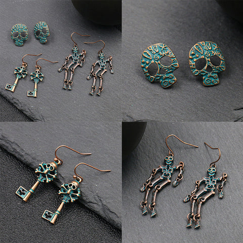 Punk style ladies Halloween alloy earrings