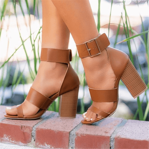 Fashion   Versatile High Heel Sandals
