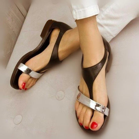 Fashion Retro   Buckle Flat Sandals