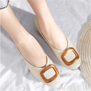 Fashion Casual   Wild Square Flat Shoes
