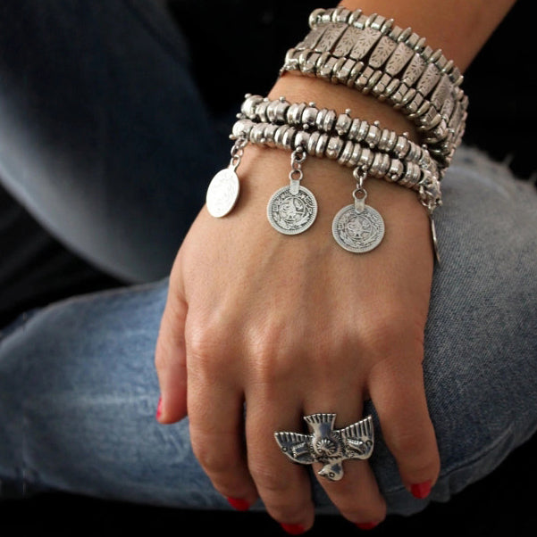 Fashion Vintage Jewelry Tassel Coin Bracelet