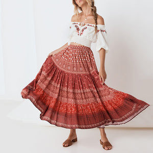Sexy Open Shoulder Lantern Sleeve Top And Skirt  Fashion Suit