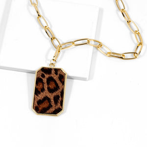 European And American Simple Fashion Alloy Leopard Necklace