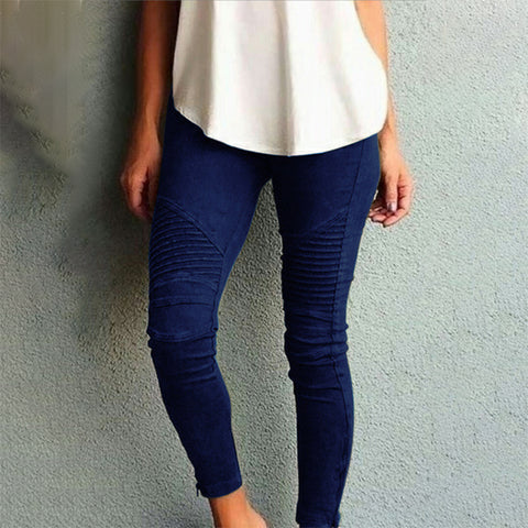 Women's Fashion Tight Elastic Casual Pants