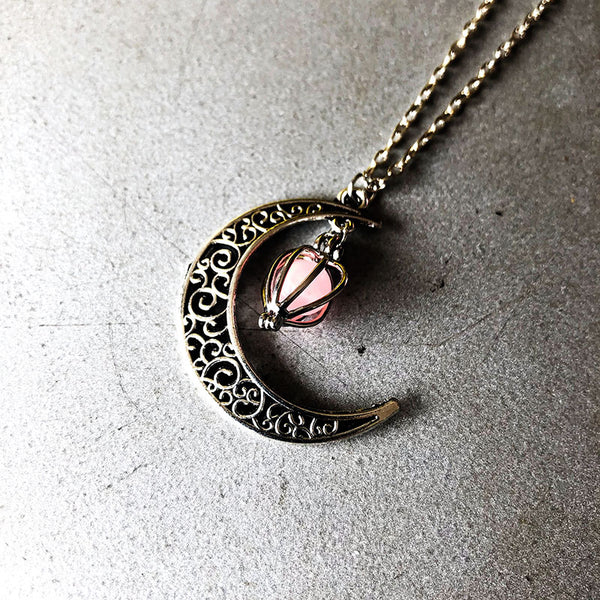 Halloween Hollow Out Moon Necklace