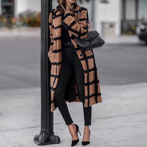 Wild and Wooly orange Plaid Coat
