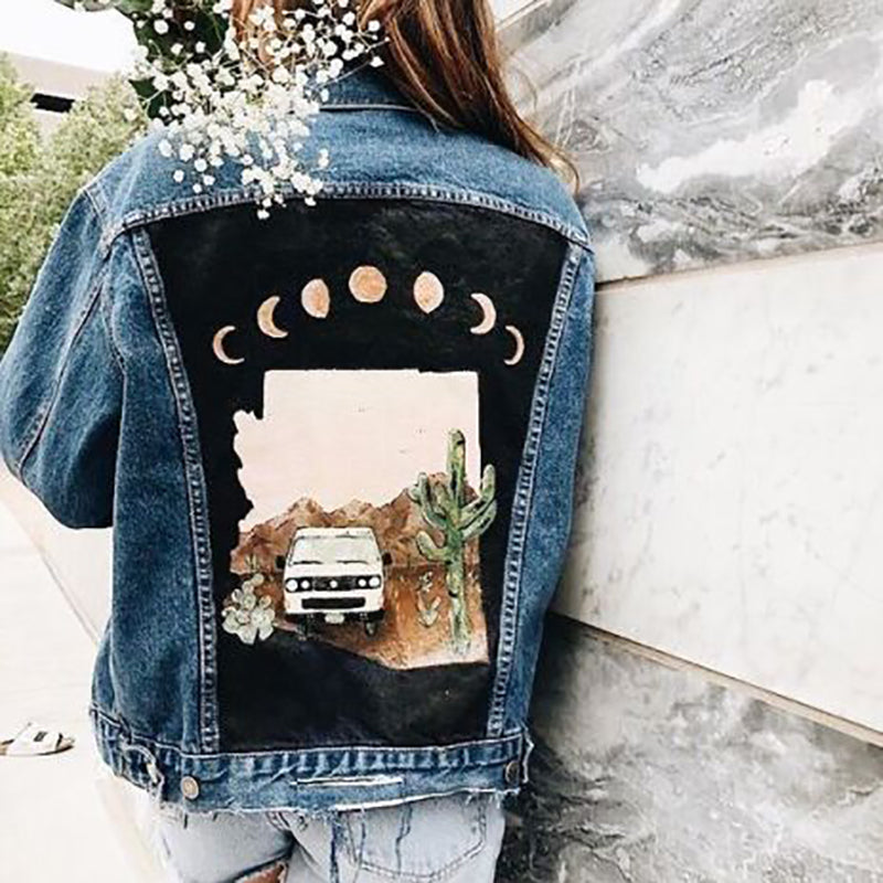 Women's Casual Back Printed Jacket