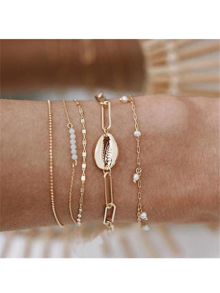 Fashion Temperament   Shell Pearl Bracelet