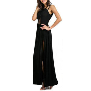 Back Cross Perspective Evening Dress