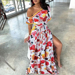 Casual Floral Vacation Maxi Dress