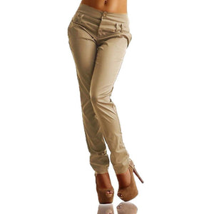 Casual High-Waist Haren Pure Colour Pants