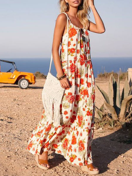 Sleeveless Cotton Floral Dresses