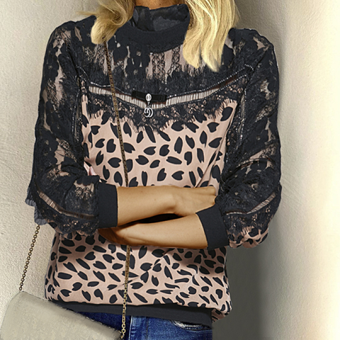 Sexy Leopard Patchwork Tops