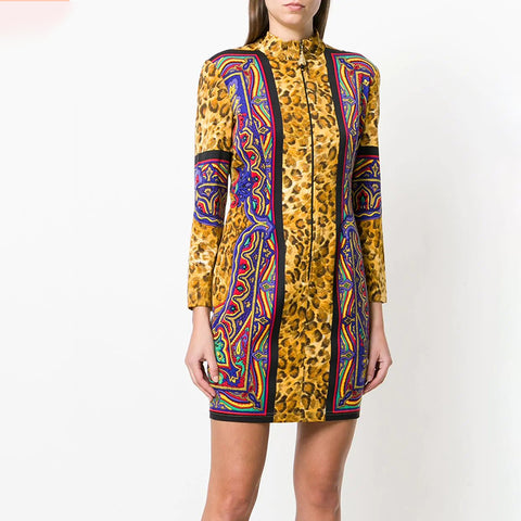 Women's fashion print dress BFCM