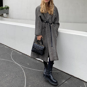 Grey silhouette waist coat