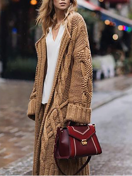 Fashion Casual Ladies Sweater Cardigan