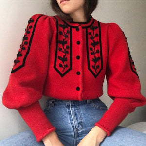 Vintage Fashion Individuality Knit Coat