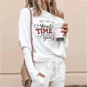 Casual Round Neck Shirts Tops Sweater