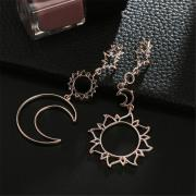 Hollow Five-Pointed Star Alloy Asymmetrical Earrings