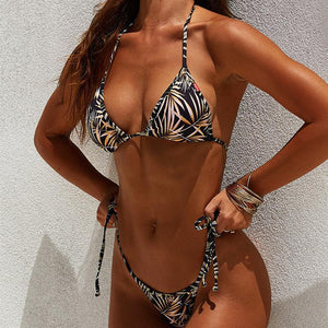 Female European And American Sexy Digital Printing Bikini