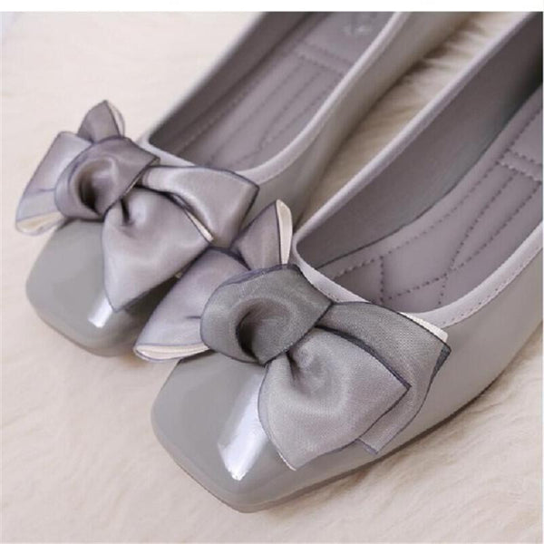 New Small Fresh Bow Female Flat Shoes