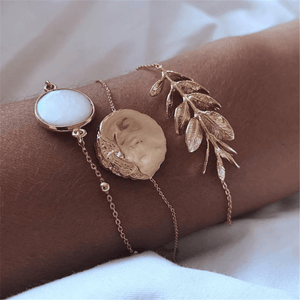 Fashion Simple Temperament Alloy Leaf Bracelet