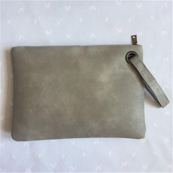 New Fashion Simple Retro Zipper Large Capacity Ladies Clutch Bag Envelope