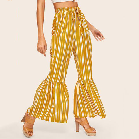 Boho Stripe See-Through Pants