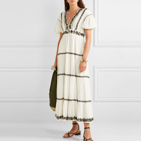 Vacation Casual Short Sleeve Loose Dress