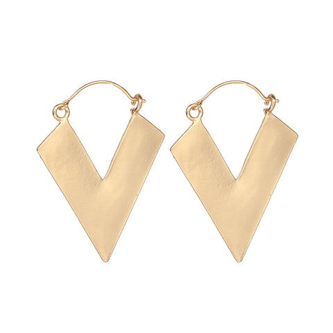 Women's Simple Triangle Irregular Graphic Earrings