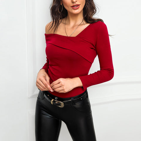 Sexy Off-Shoulder Long Sleeve T-Shirt