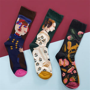 Personality Creative Colorful Cartoon Socks