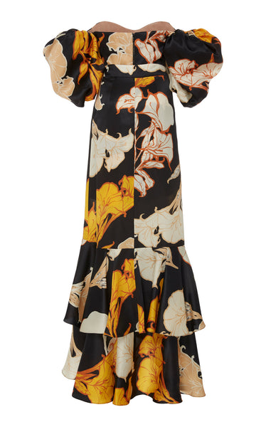 Women's Fashion Collar Printed Patchwork Dress