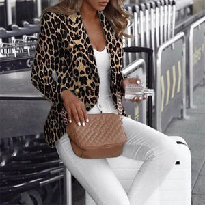 Fashion leopard print jacket