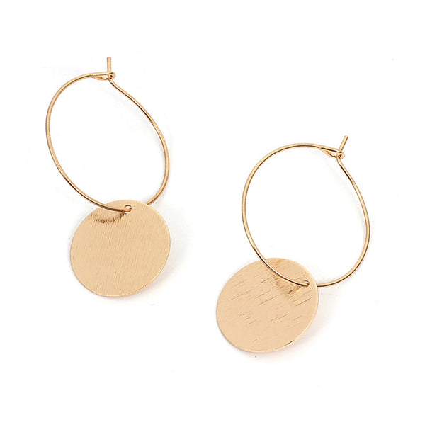 Fashion Minimalist Size Hollow Solid Round Earrings