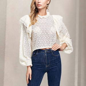 Women's Elegant Sweet Lace Shirt