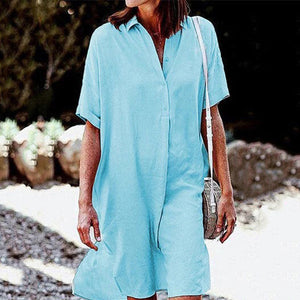 Women's Classic Casual Shirt Dress