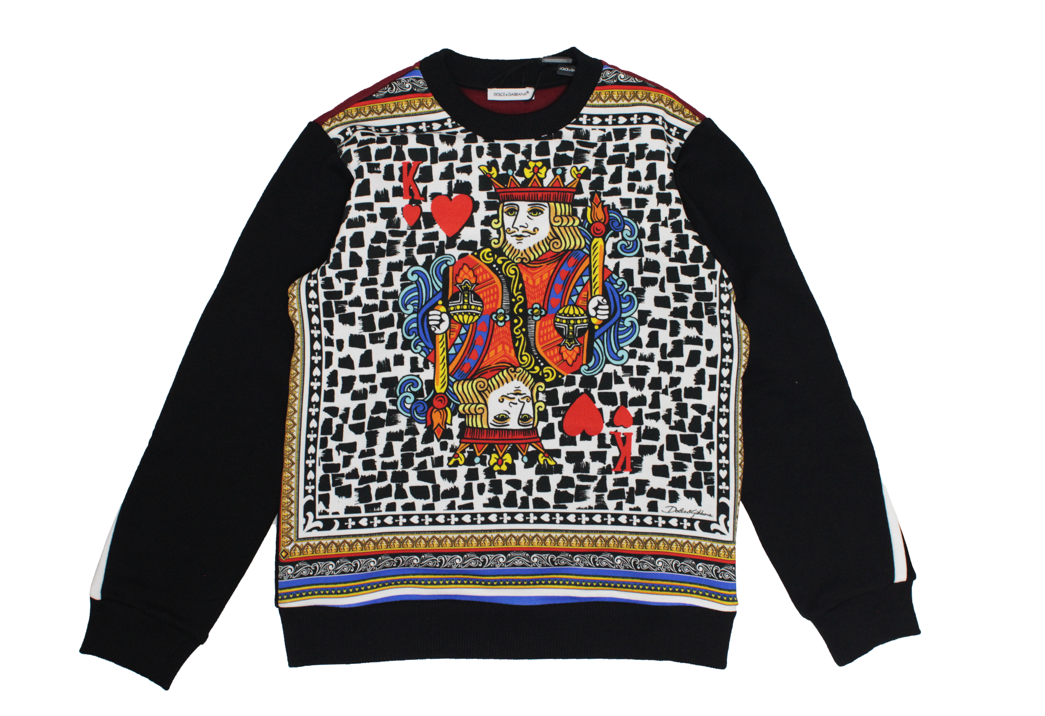 Dolce And Gabbana King Of Hearts Sweatshirt Littleclosetsg
