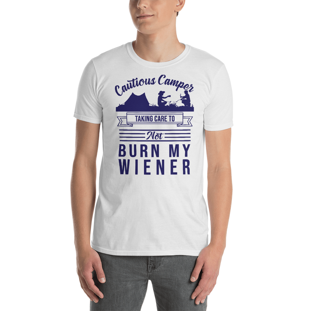 Cautious Camper T-Shirt in Blue