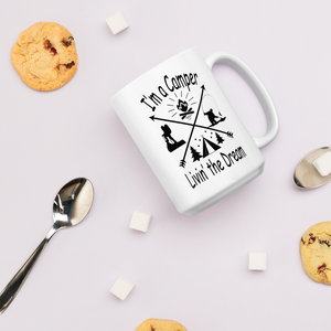 I'm a Camper Coffee Mug with Black Print