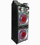 Bluetooth Party Speaker LED Loud Audio two speakers tweeters handles