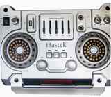 "Two 10"" Professional Bluetooth Speakers with LED Display -Bastek 1088"